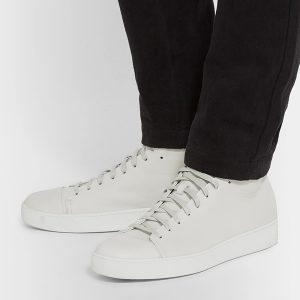 Mens White High Top Sneakers (2)