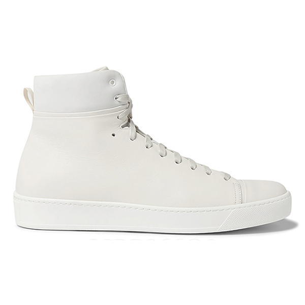 Mens White High Top Sneakers (5)