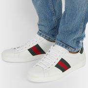 Men's White Low Top Sneakers (2)