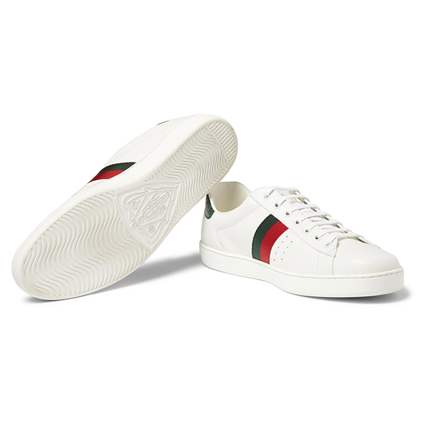 Men's White Low Top Sneakers (3)