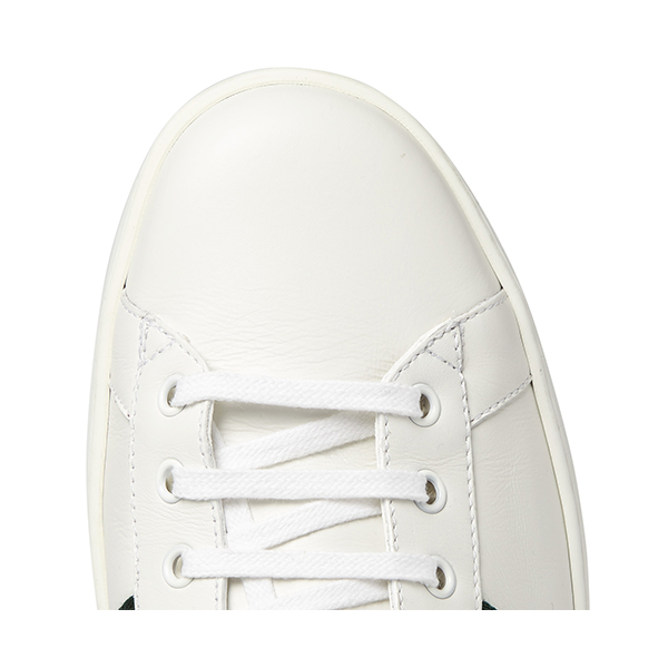 Men's White Low Top Sneakers (6)