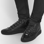 Womens All Black High Top Sneakers (2)