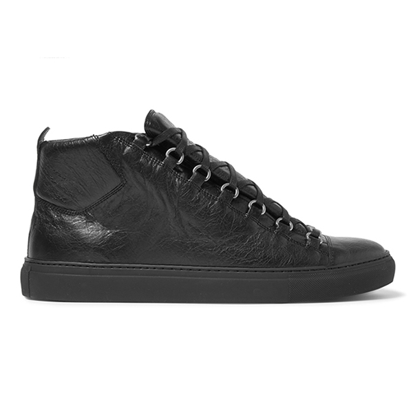 Womens All Black High Top Sneakers (5)