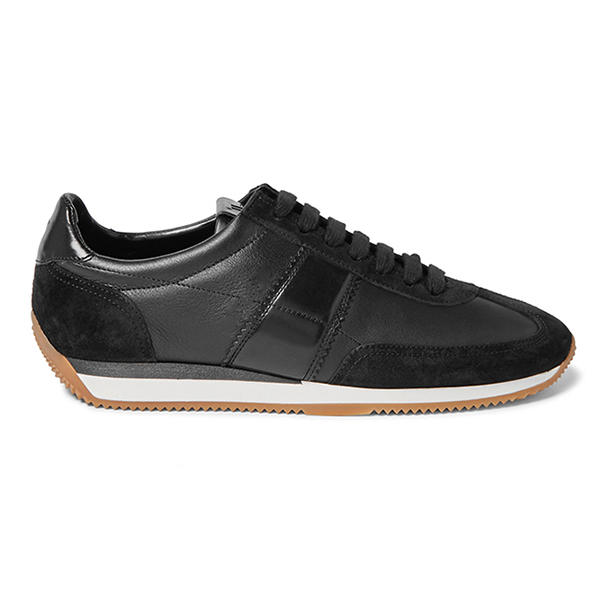 Black Leather Low Top Sneakers (4)