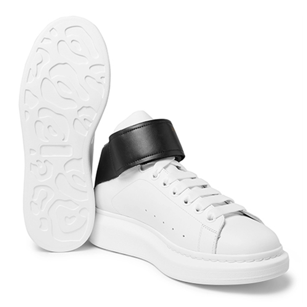 Leather High Top Sneakers (3)
