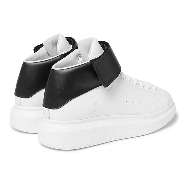 Leather High Top Sneakers (4)