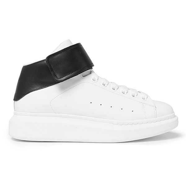 Leather High Top Sneakers (5)