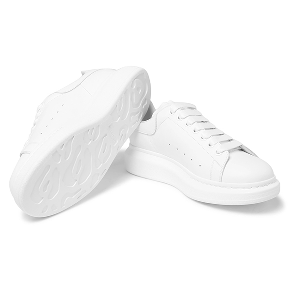 White Leather Low Top Sneakers (3)
