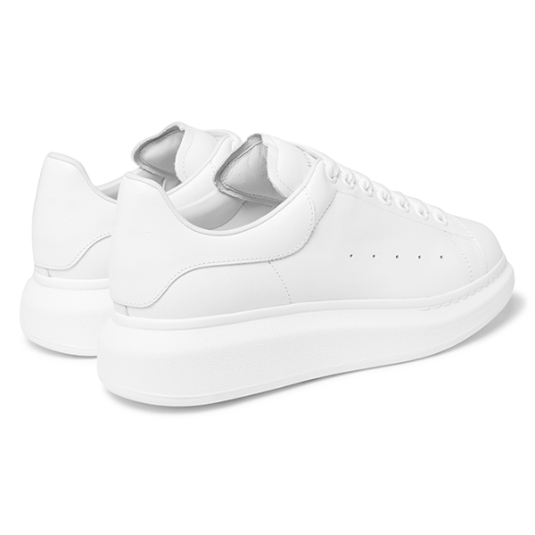 White Leather Low Top Sneakers (4)