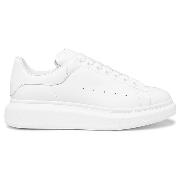 White Leather Low Top Sneakers (5)
