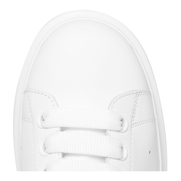 White Leather Low Top Sneakers (6)