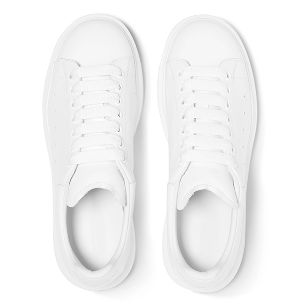 White Leather Low Top Sneakers (7)