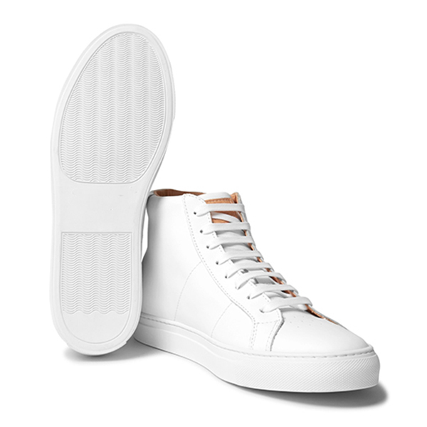 Men's All White High Top Sneakers (3)