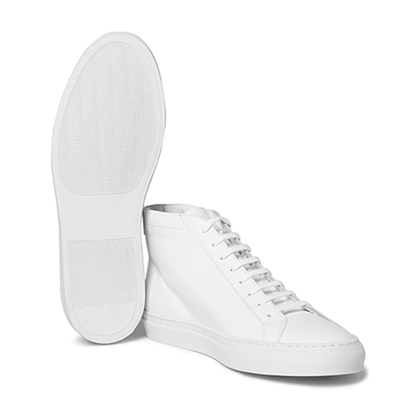 Womens White High Top Sneakers (3)