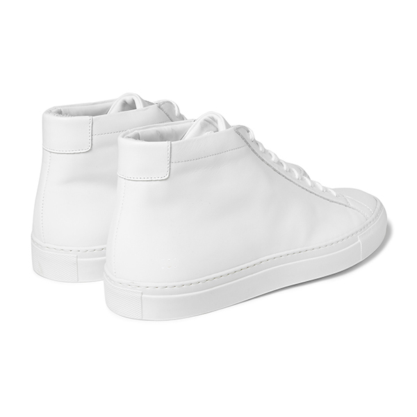 Womens White High Top Sneakers (4)