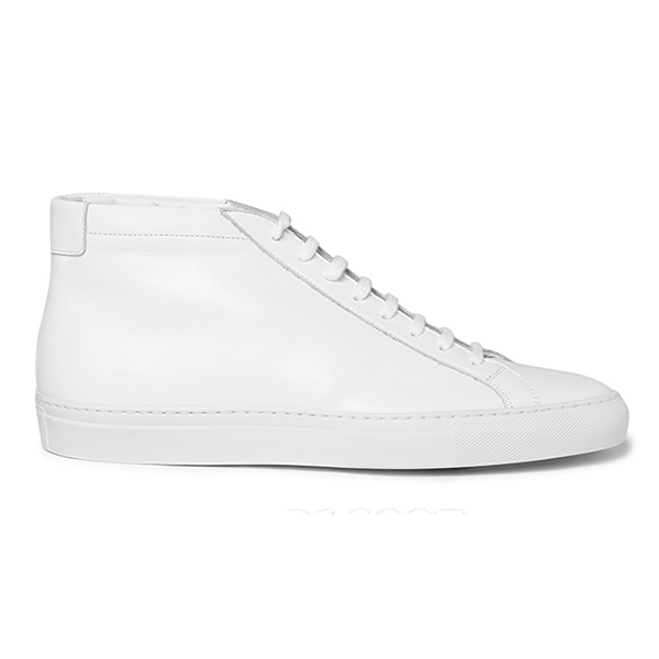 Womens White High Top Sneakers (5)