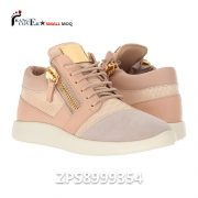 Fashion Pink Leather Womens Sneaker Shoes Gold Zipper Casual Shoes