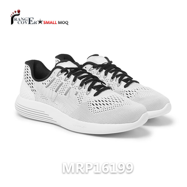 Custom Free Style White Flyknit Mesh Men Running Shoes Sport Shoes