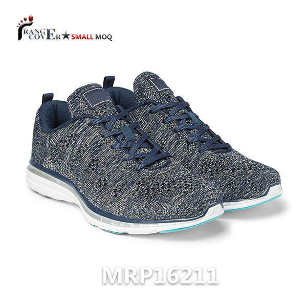 Knitting fabric mesh running sport shoes for men