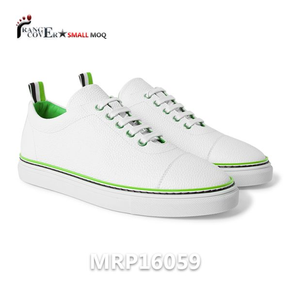 Stitched Toecaps Full Grain Leather China Wholesale Sneakers
