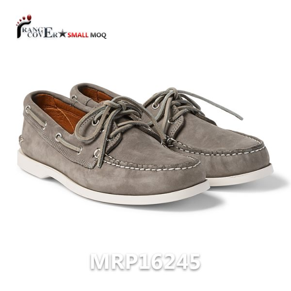 New Arrival Nubuck Casual Men Boat Sailing Shoes Grey Color