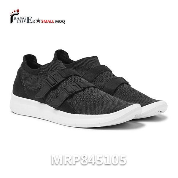 Custom Sport Homme Men Black Flyknit Mesh Running Shoes