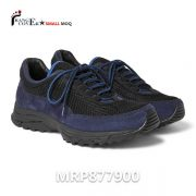 Classic Navy Suede Breathable Mesh Runner Tenis Shoes