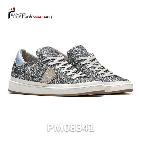 Hot Sell Gitter Sneaker Shoes Women Sliver Shoes
