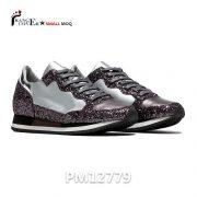 JinJiang Factory Gray Glitter Leather Women Sneakers