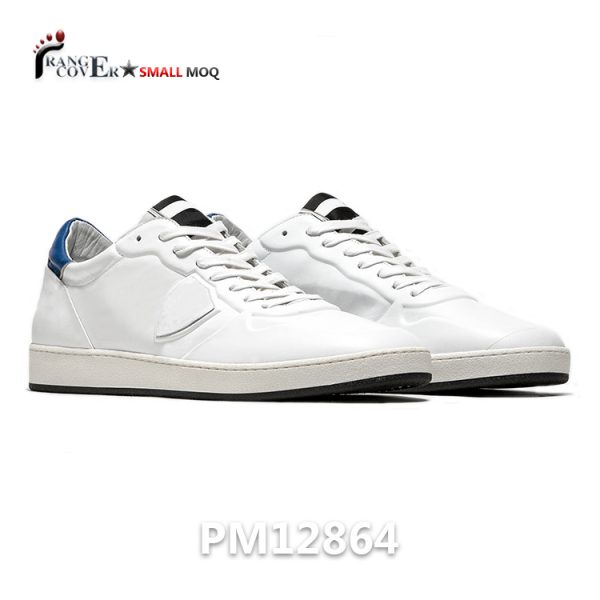 Custom Man Woman White Casual Leather Shoes And Sneaker