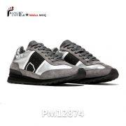 Grey Women Sneakers Italian Luxury Leather Shoes