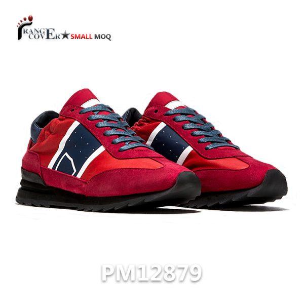 Red Women Sneakers Italian Luxury Leather Shoes