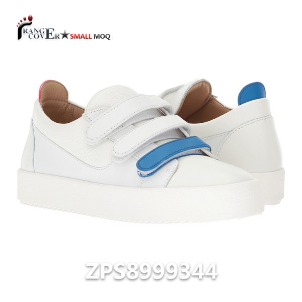 Men Three Hook And Lop Sneaker Shoes White Leather Women Shoes