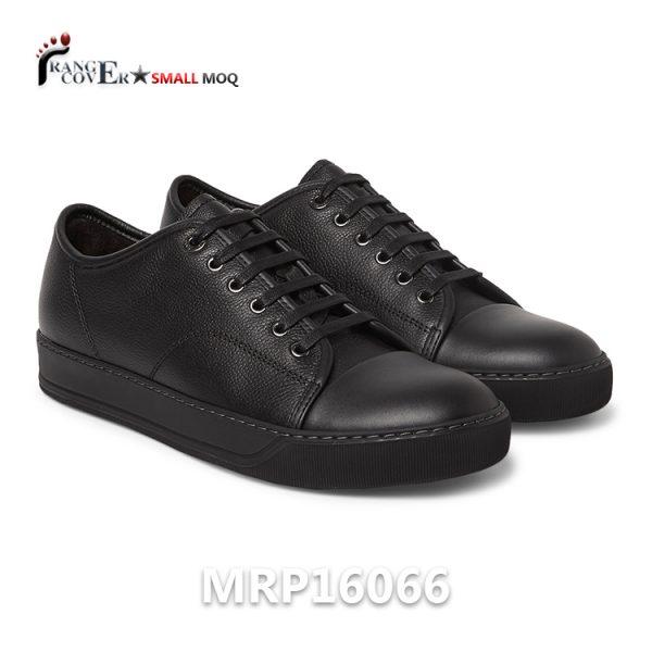 Smooth Leather Toe Cap Black Men Custom Sneakers Alibaba Scarpe