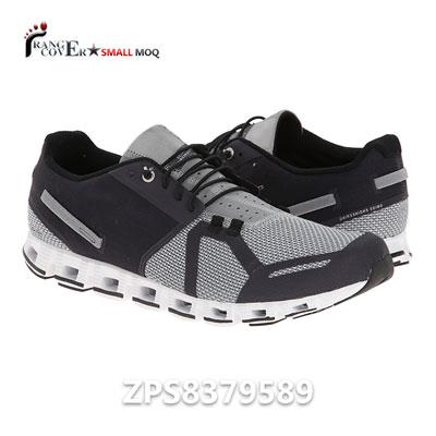 Custom Logo Two Tone Grey Mesh Running Shoes